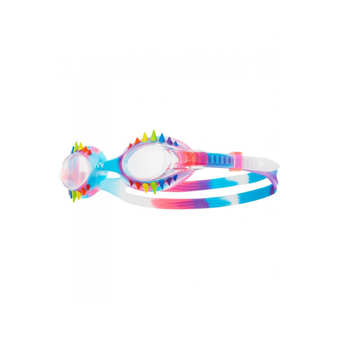 TYR - Spikes Swimpl Tie Dye Kids Goggles Rainbow/Pink