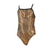 The Finals/Funnies - Girls Swimsuit Slither Foil Wing Back