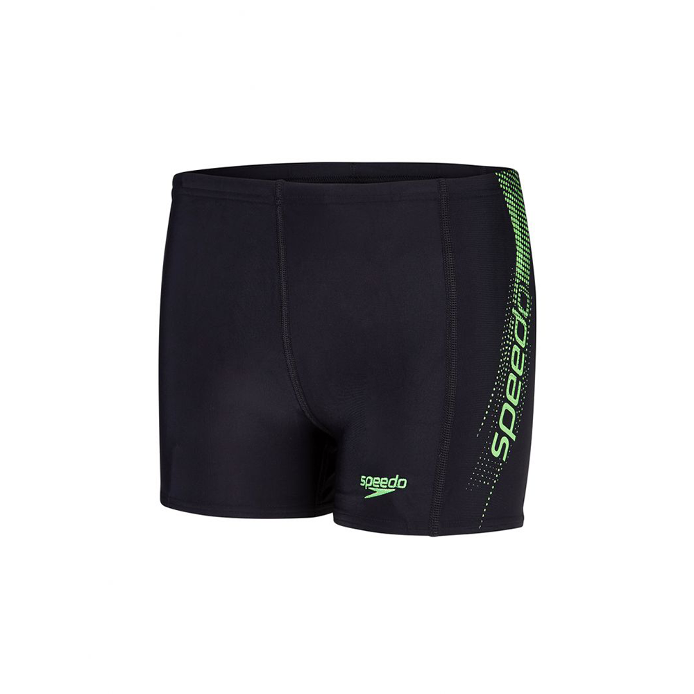 Speedo - Boys Trunks Sports Logo Panel Black Green
