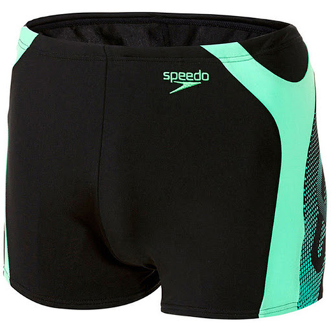 Speedo - Mens Trunks Graphic Splice Black/Green