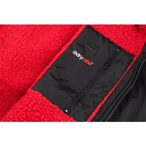 DRYROBE ADVANCE - Short Sleeve Black & Red - Sharks Swim Shop