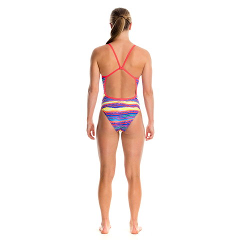 FUNKITA - Single Strap One Piece Crystal Wave - Sharks Swim Shop