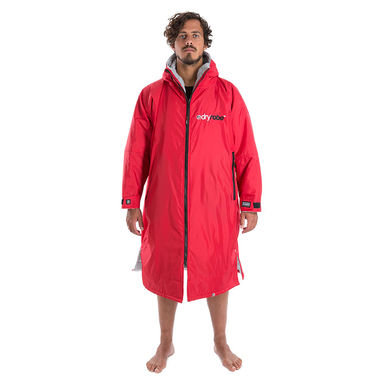DRYROBE - Coat Long Sleeve Red & Grey