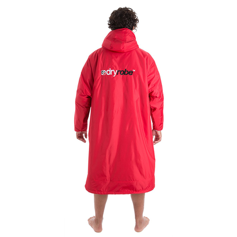 DRYROBE ADVANCE - Long Sleeve Red & Grey - Sharks Swim Shop