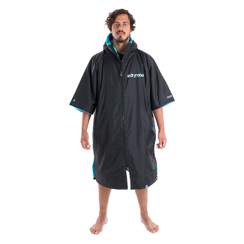 DRYROBE - Coat Short Sleeve Black & Blue