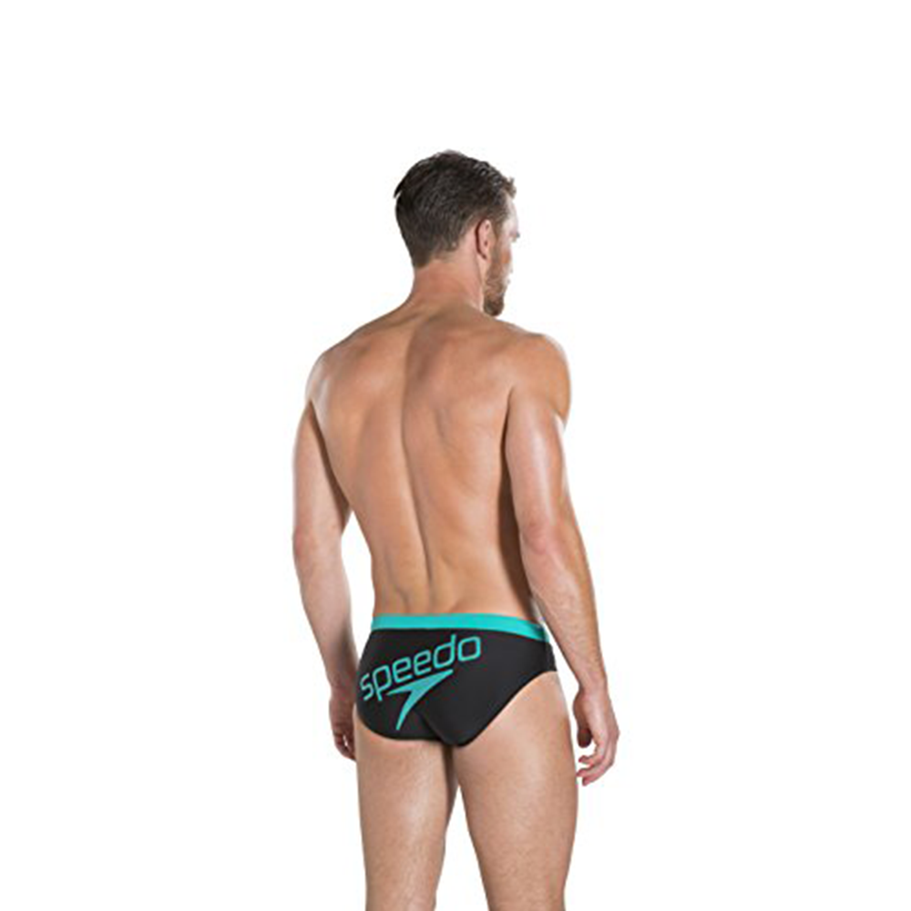 Speedo - Mens Brief 7cm Ess Logo Black/Green