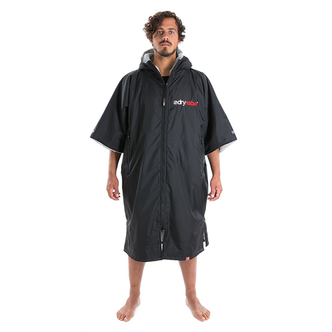 DRYROBE ADVANCE - Short Sleeve Black & Grey - Sharks Swim Shop