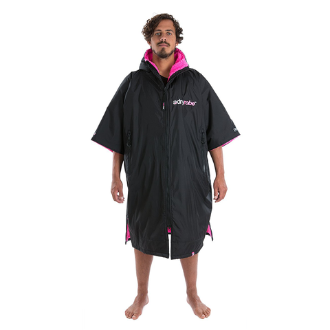 DRYROBE ADVANCE - Short Sleeve Black & Pink - Sharks Swim Shop