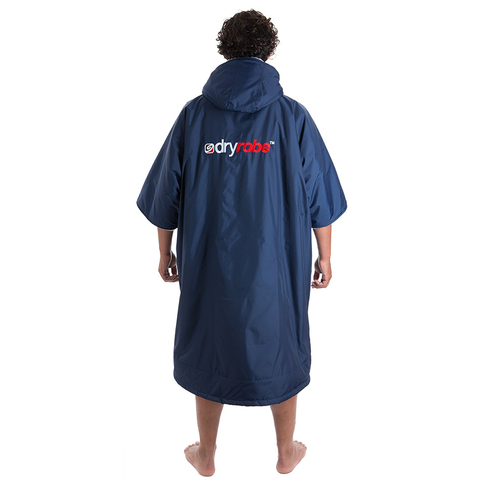 DRYROBE ADVANCE - Short Sleeve Navy & Grey - Sharks Swim Shop