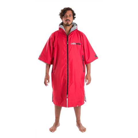 DRYROBE ADVANCE - Short Sleeve RED GREY - Sharks Swim Shop