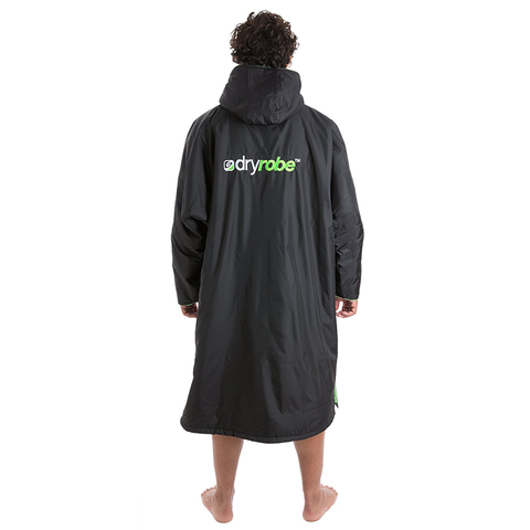 DRYROBE ADVANCE - Long Sleeve Black & Green - Sharks Swim Shop