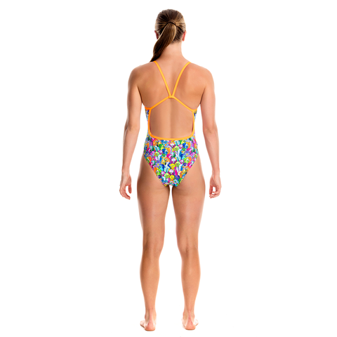FUNKITA - Ladies Single Strap One Piece Bang Bang Budgie - Sharks Swim Shop