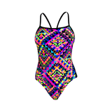 FUNKITA - Ladies Single Strap One Piece Diamond Devil