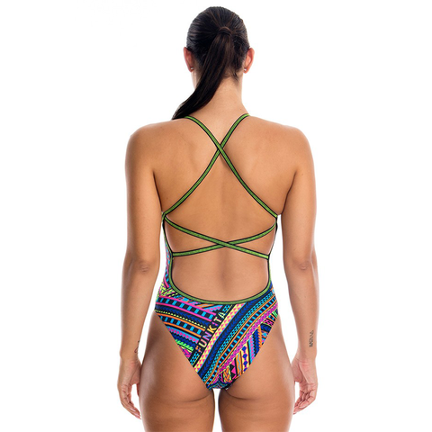 FUNKITA - Ladies Strapped in One Piece Tribal Revival - Sharks Swim Shop