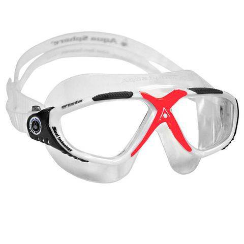 Aqua Sphere - Vista Clear/White/Red - Sharks Swim Shop