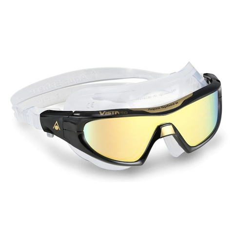 Aqua Sphere - Vista Pro Black/Gold Mirror - Sharks Swim Shop