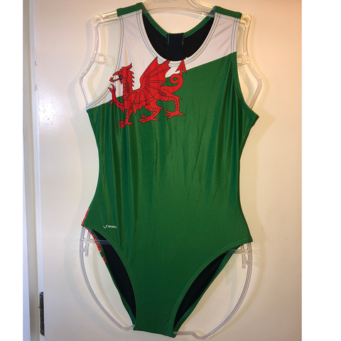 Finis - Custom Female Waterpolo Welsh Dragon Swimsuit
