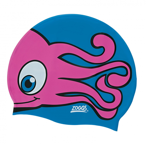 Zoggs -   Children's Silicone Character Cap Blue/Pink