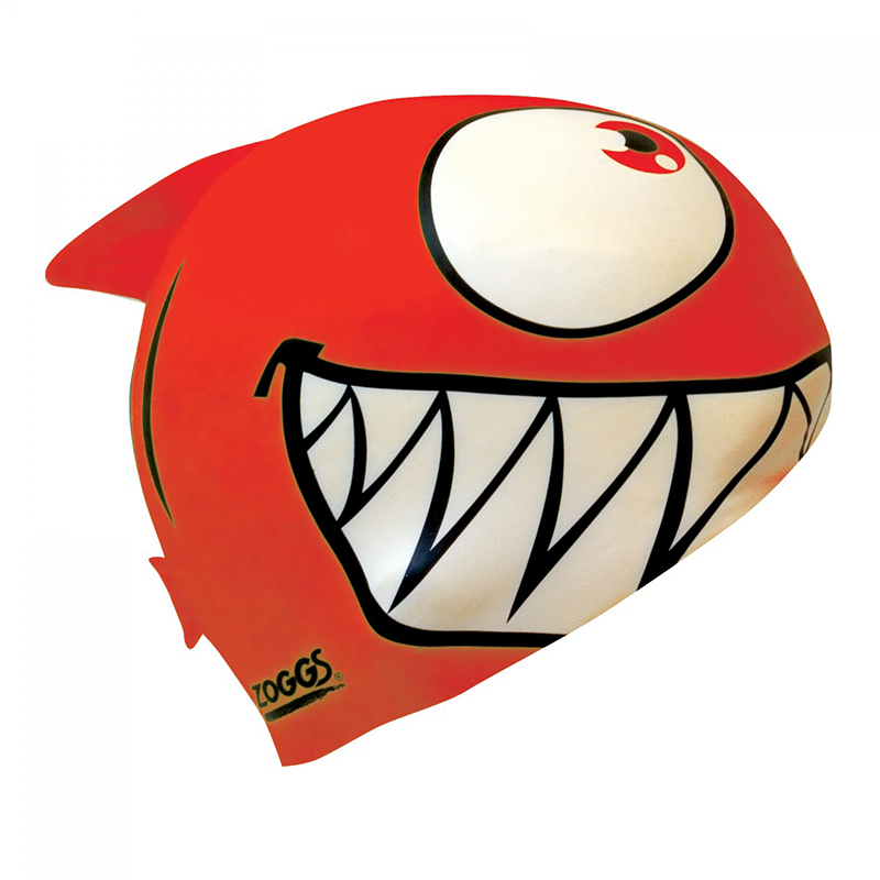Zoggs -   Children's Silicone Character Cap Red
