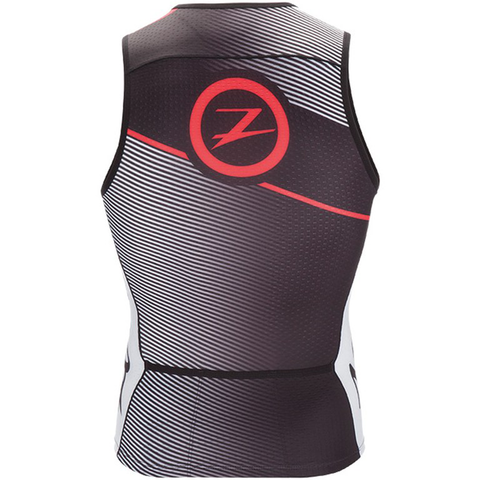 Zoot - Mens Tri Team Tank Black Race day Red
