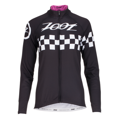 Zoot - Womens Cycle Cali Thermo Jersey Paradise Checker
