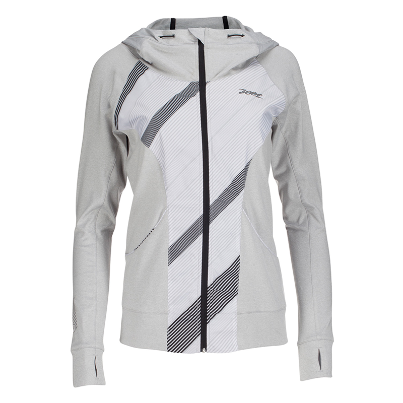 Zoot - Womens Dawn Patrol FZ Hoodie Silverstand Heather/Pipeline