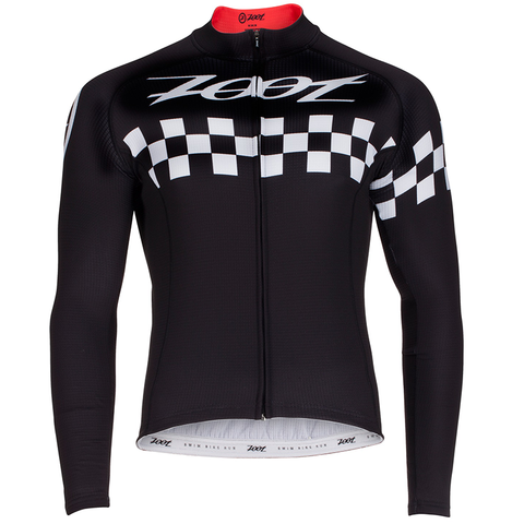 Zoot - Mens Cycle Cali Thermo LS Jersey Black Checker