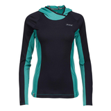 Zoot - Womens Ocean Side Hoodie Black/Aquamarine Stripe