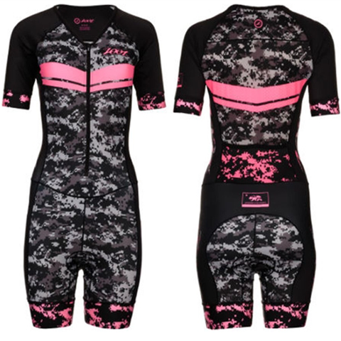 Zoot - Womens  Tri Ltd SS Racesuit High Viz Pink