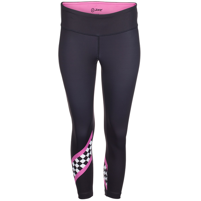 Zoot - Womens Run Cali Capri Deep Purple Checker