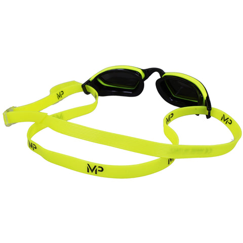 Michael Phelps - Goggles XCEED Mirrored - Black/Neon Yellow - Sharks Swim Shop