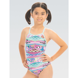 Dolfin  - Girls Uglies Keyhole One Piece Swimsuit Cotton  Candy