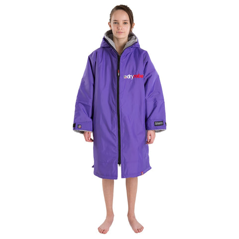 DRYROBE - Coat Long Sleeve Purple & Grey