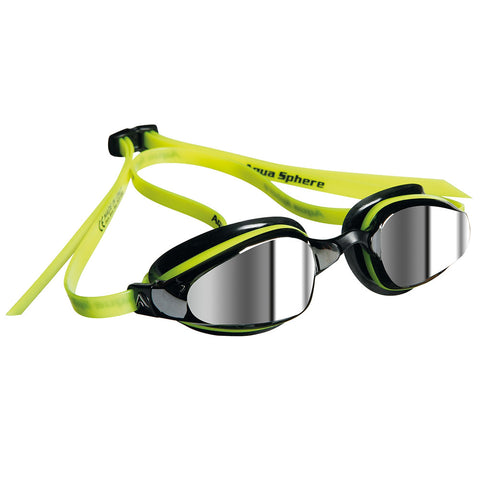 Michael Phelps - Goggles XCEED Mirrored - Black/Neon Yellow