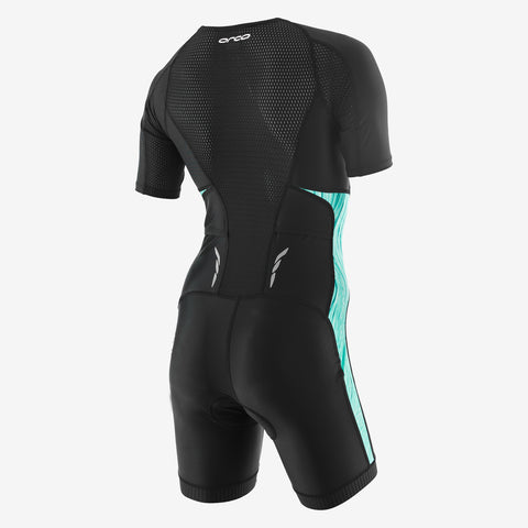 Orca - Womens Core Short Sleeved  Racesuit Black/Green