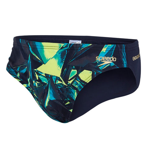 Speedo - Mens Allover 5cm Brief Navy/Green