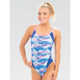 Dolfin  - Womens Uglies Underwater Camo Double Strap Back One Piece Swimsuit