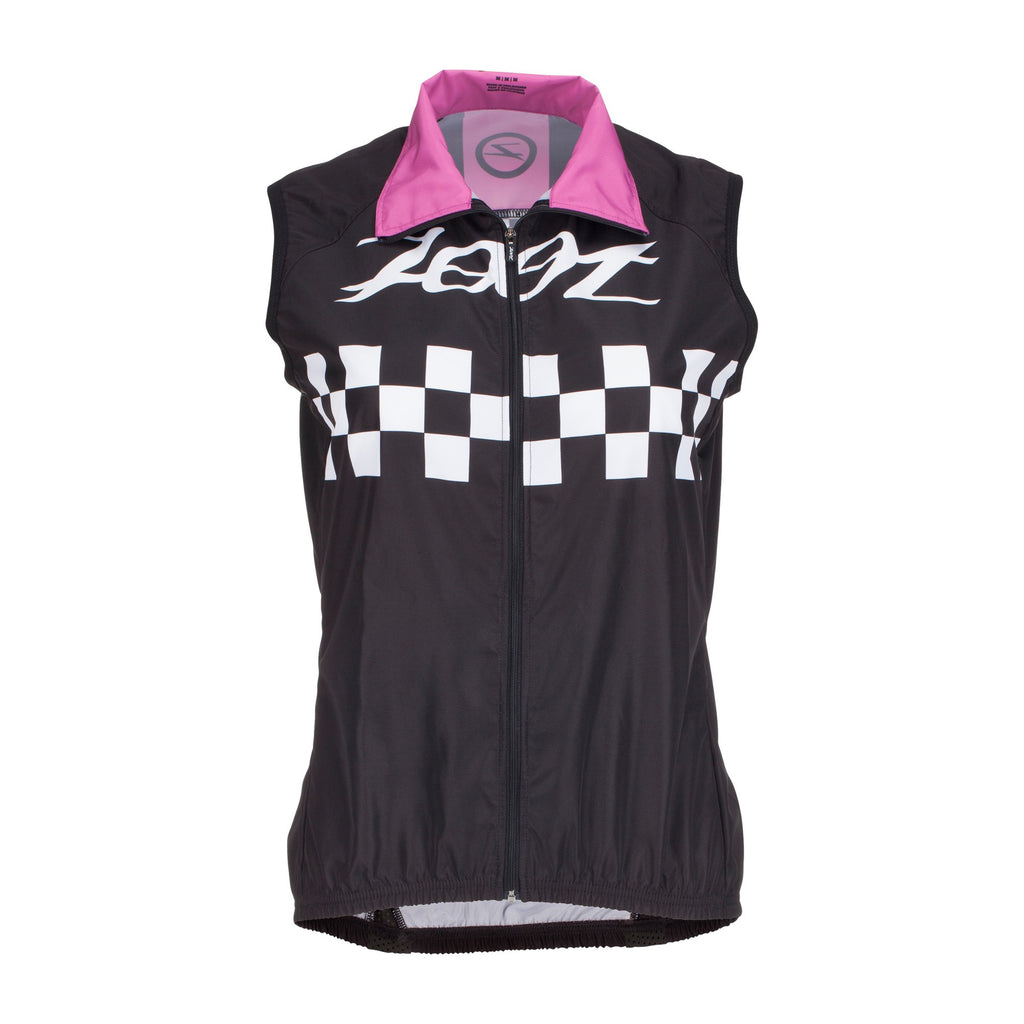 Zoot - Womens Cycle Cali Wind Vest Deep Purple Checker