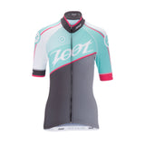 Zoot - Womens Cycle TEAM Jersey Aquamarine/Passion Fruit