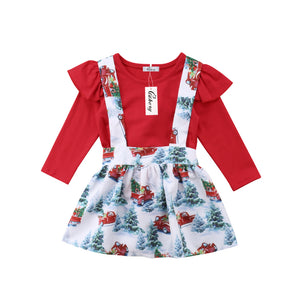 Little Red Truck Jumper Dress
