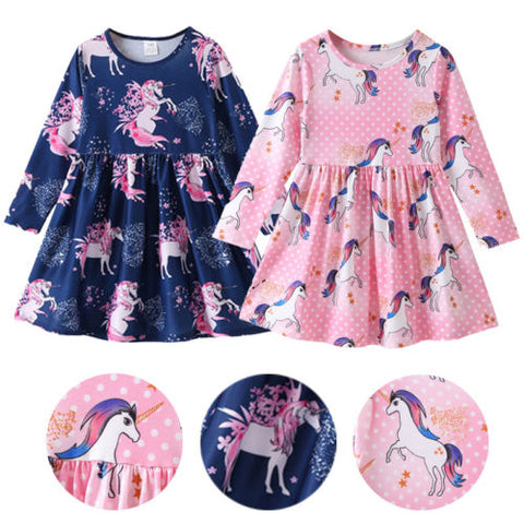 Floral Unicorn Too Dress