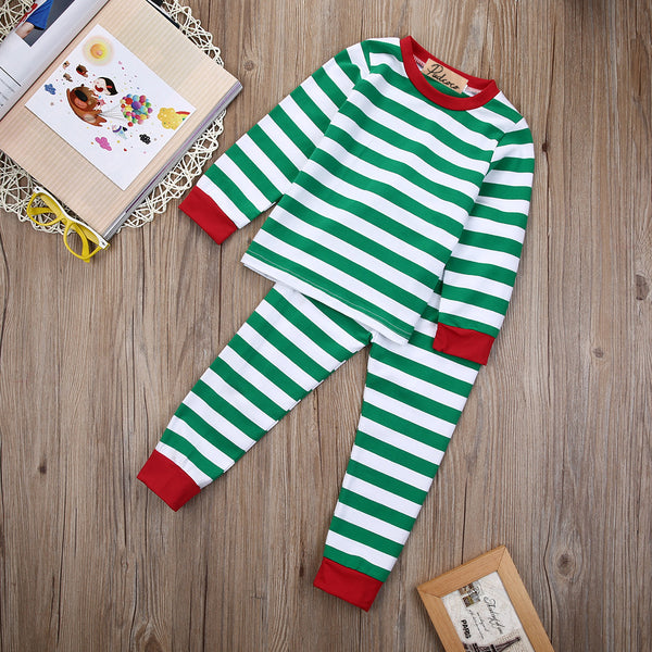 Christmas Stripe Pajamas - Bliss & Bustle