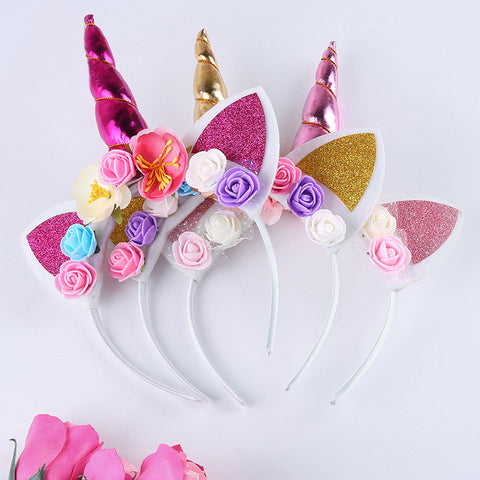 Floral Unicorn Crown - Bliss & Bustle