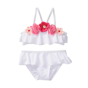 Rose Ruffle Swimsuit - Bliss & Bustle
