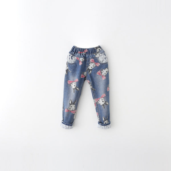 Bunny Lace Denim Jeans