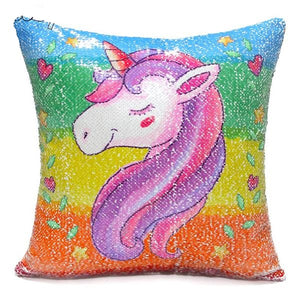 Unicorn Sequin Pillow Cover - Bliss & Bustle