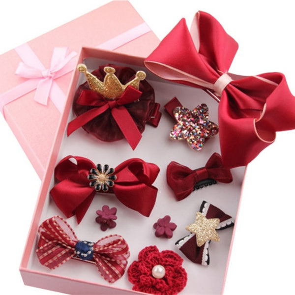 10 Piece Hair Clips Gift Box