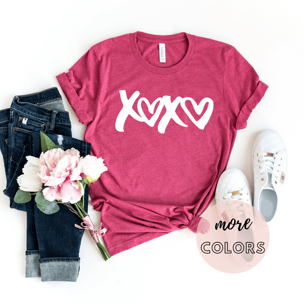 xoxo Shirt, Valentines Day Gift Shirt, Valentines Gifts for him her girlfriend, Valentines Day - Funkyappareltees