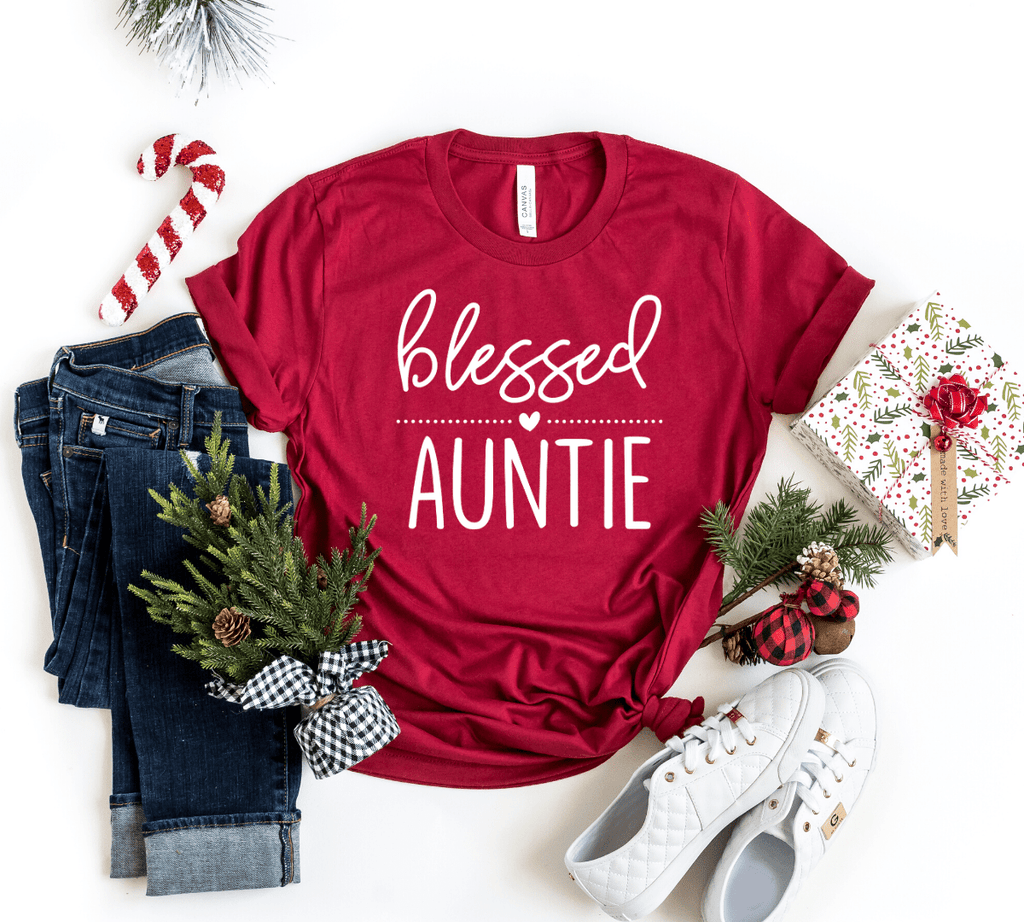 Blessed Auntie Shirt, Christmas Gift for Aunt, Favorite Aunt, BAE Best Aunt Ever Shirt, Aunt Shirt, New Aunt, Aunt Christmas Gift, Gift for Sister