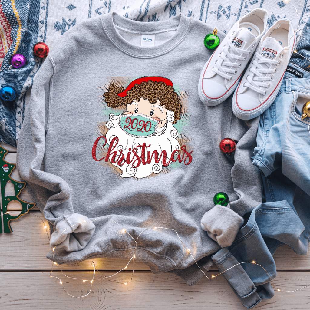 2020 Christmas Masked Santa Sweater